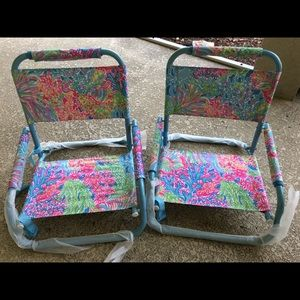 Lilly Pulitzer Other   Lilly Pulitzer Beach Chairs